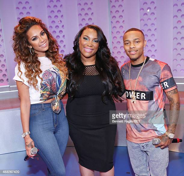 Erica Mena Shad Moss and Tasha PageLockhart attend 106 Park at BET studio on August 6 2014 in New York City