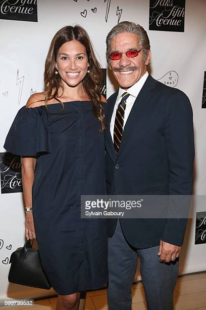 Erica Michelle Levy and Geraldo Rivera attend Cocktails to Celebrate the Launch of Sprinkle Glitter on My Grave by Jill Kargman at Cafe SFA Saks...