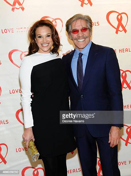 Erica Michelle Levy and Geraldo Rivera attend Love Heals 2015 Gala at the Four Seasons Restaurant on March 12 2015 in New York City