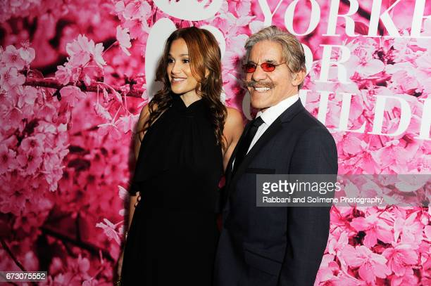 Erica Michelle Levy and Geraldo Rivera attends the 2017 New Yorkers For Children's A Fool's Fete Enchanted Garden at Mandarin Oriental New York on...