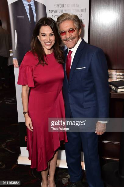 Erica Michelle Levy and Geraldo Rivera Launches His New Book The Geraldo Show A Memoir at Del Frisco's Grille on April 2 2018 in New York City