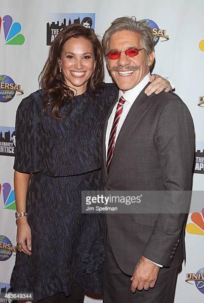 Erica Michelle Levy and journalist Geraldo Rivera attend The Celebrity Apprentice season finale at Trump Tower on February 16 2015 in New York City