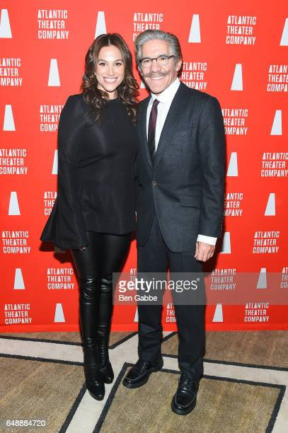 Erica Michelle Levy and reporter Geraldo Rivera attend the Atlantic Theater Company Directors' Choice gala at The Pierre Hotel on March 6 2017 in New...