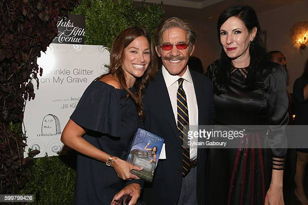 Erica Michelle Levy Geraldo Rivera and Jill Kargman attend Cocktails to Celebrate the Launch of Sprinkle Glitter on My Grave by Jill Kargman at Cafe...
