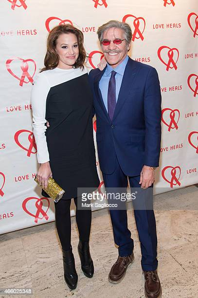 Erica Michelle LevyÊand Geraldo Rivera attend the 2015 Love Heals Gala at the Four Seasons Restaurant on March 12 2015 in New York City
