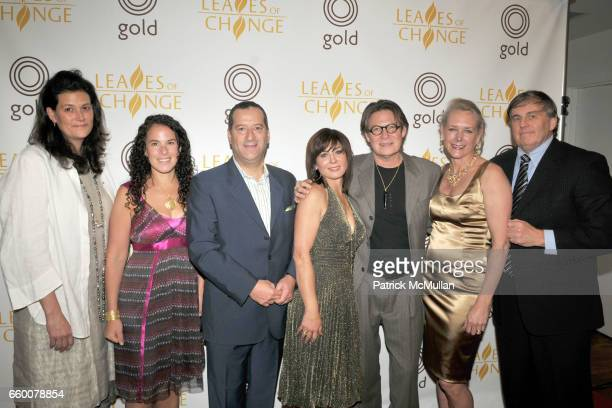 Erica Molinari Annie Fensterstock Robin Rotenier Mauri Pioppo Robert Lee Morris Ariane Zurcher and Mark Hanna attend LEAVES of CHANGE Celebrity...