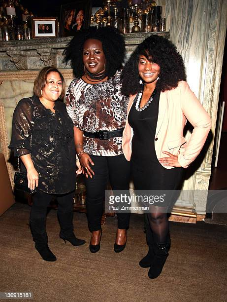 Erica Nailor Angel Laws and Chenelle Bogle attend the Target salute to Miko Branch and Titi Branch to celebrate being named two of Ebony Magazine's...