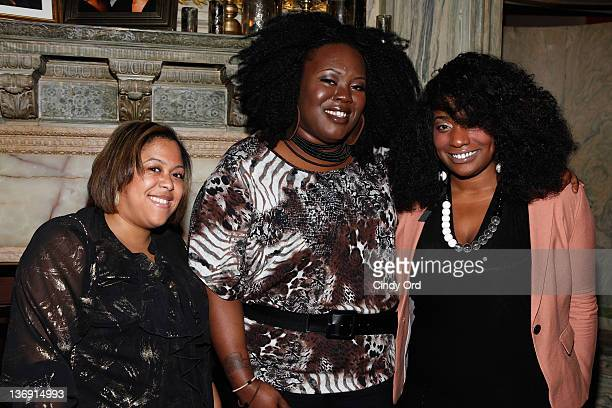 Erica Nailor Angel Laws and Shanelle Bogle attend the Target salute to Miko Branch and Titi Branch to celebrate being named two of Ebony Magazine's...