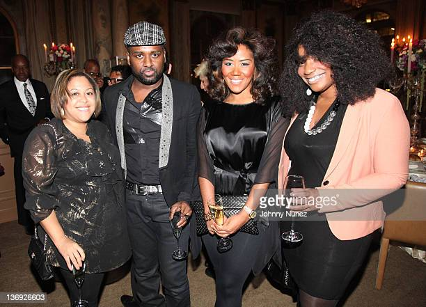 Erica Nailor YRB Fashion Editor Darius Baptist coowner of Miss Jessie's Miko Branch and Chenelle Bogle attend the Target salute to Miko Branch and...