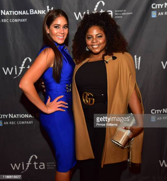 Erica Page and Brely Evans attend the 2019 WIFTA Gala at Four Seasons Hotel on November 9 2019 in Atlanta Georgia