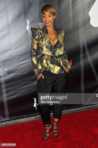 Erica Peeples attends the 4th Annual CineFashion Film Awards at El Capitan Theatre on October 8 2017 in Los Angeles California