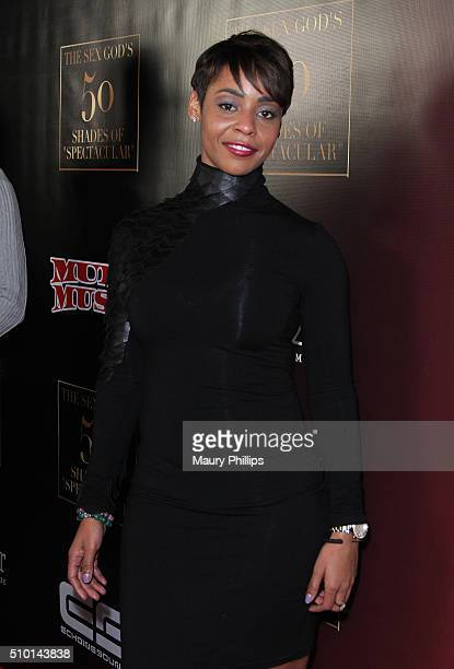 Erica Peeples attends The Sex God's 50 Shades of Spectacular PreGRAMMY and Valentine's Day experience on February 13 2016 in Hollywood California
