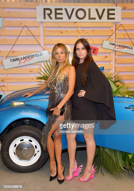 Erica Pelosini and Alexa Dell attend the KARL LAGERFELD x KAIA launch with REVOLVE hosted by Kaia Gerber at Revolve Social Club on August 30 2018 in...