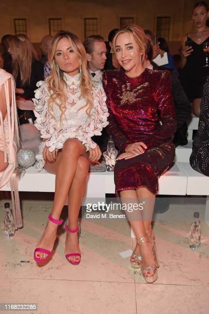 Erica Pelosini and Katia Francesconi sit in the front row at Fashion For Relief London 2019 at The British Museum on September 14 2019 in London...