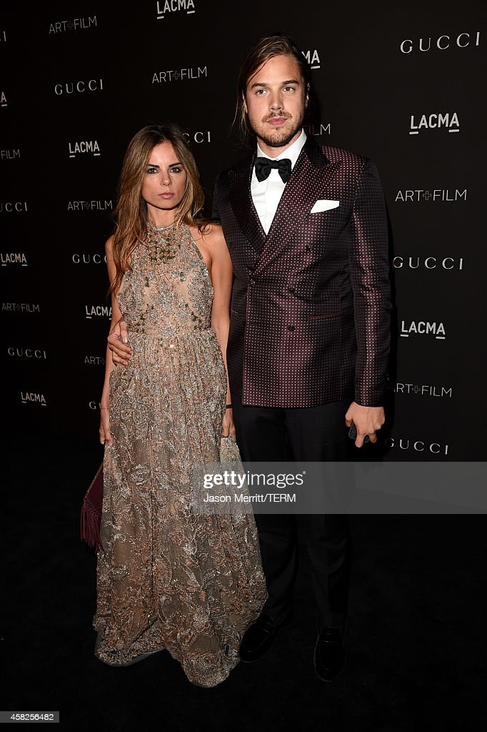 Erica Pelosini and Louis Leeman attend the 2014 LACMA Art + Film Gala honoring Barbara Kruger and Quentin Tarantino presented by Gucci at LACMA on November 1, 2014 in Los Angeles, California.
