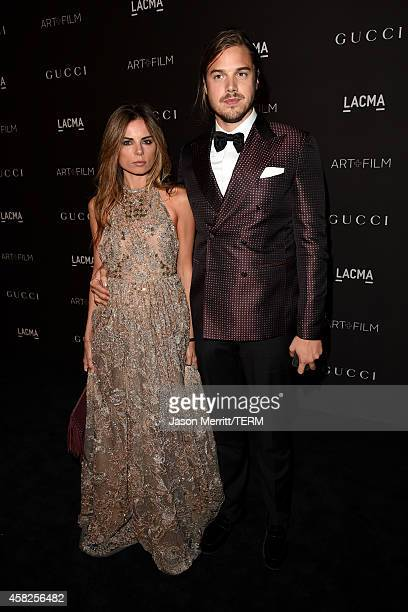 Erica Pelosini and Louis Leeman attend the 2014 LACMA Art Film Gala honoring Barbara Kruger and Quentin Tarantino presented by Gucci at LACMA on...