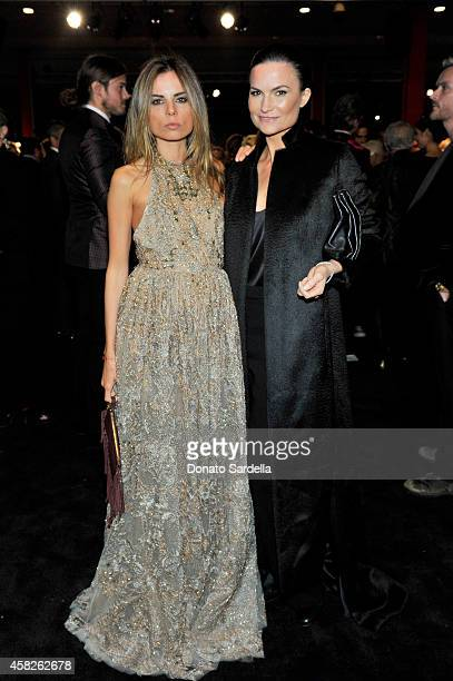 Erica Pelosini and Rosetta Getty attend the 2014 LACMA Art + Film Gala honoring Barbara Kruger and Quentin Tarantino presented by Gucci at LACMA on...