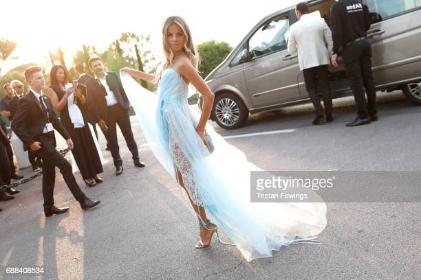 Erica Pelosini arrives at the amfAR Gala Cannes 2017 at Hotel du CapEdenRoc on May 25 2017 in Cap d'Antibes France