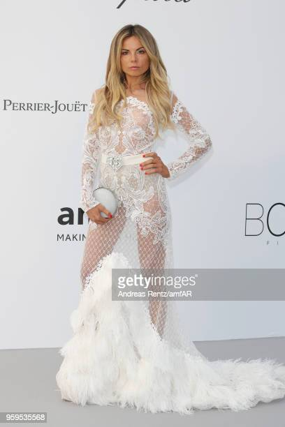 Erica Pelosini arrives at the amfAR Gala Cannes 2018 at Hotel du CapEdenRoc on May 17 2018 in Cap d'Antibes France