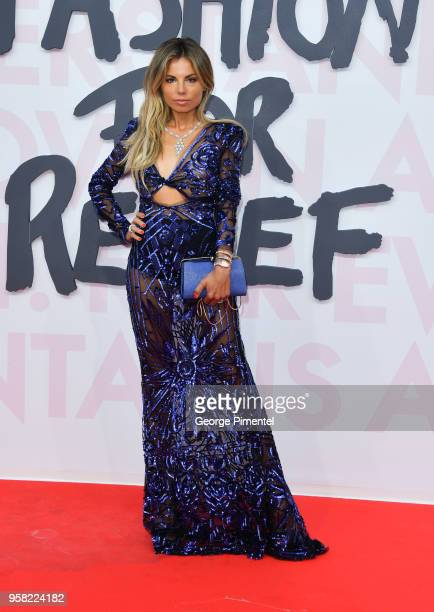 Erica Pelosini attends Fashion For Relief Cannes 2018 during the 71st annual Cannes Film Festival at Aeroport Cannes Mandelieu on May 13 2018 in...