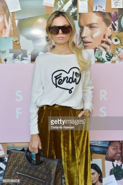 Erica Pelosini attends Summer Fridays Skincare Launch With Marianna Hewitt Lauren Gores Ireland at Hayden on March 15 2018 in Culver City California