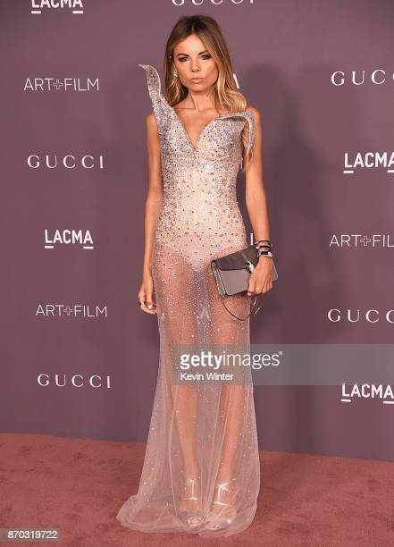 Erica Pelosini attends the 2017 LACMA Art Film Gala Honoring Mark Bradford And George Lucas at LACMA on November 4 2017 in Los Angeles California