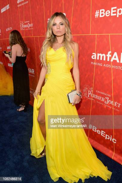 Erica Pelosini attends the amfAR Gala Los Angeles 2018 at Wallis Annenberg Center for the Performing Arts on October 18 2018 in Beverly Hills...