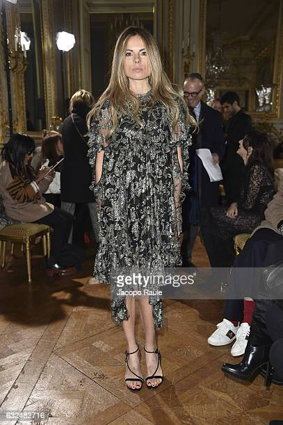 Erica Pelosini attends the Francesco Scognamiglio Haute Couture Spring Summer 2017 show as part of Paris Fashion Week on January 23 2017 in Paris...