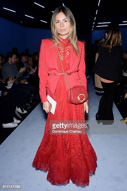 Erica Pelosini attends the Giambattista Valli show as part of the Paris Fashion Week Womenswear Fall/Winter 2016/2017 on March 7 2016 in Paris France
