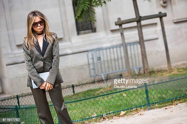 Erica Pelosini attends the Mugler show on day 5 of Paris Womens Fashion Week Spring/Summer 2017Êon September 30 2016 in Paris France