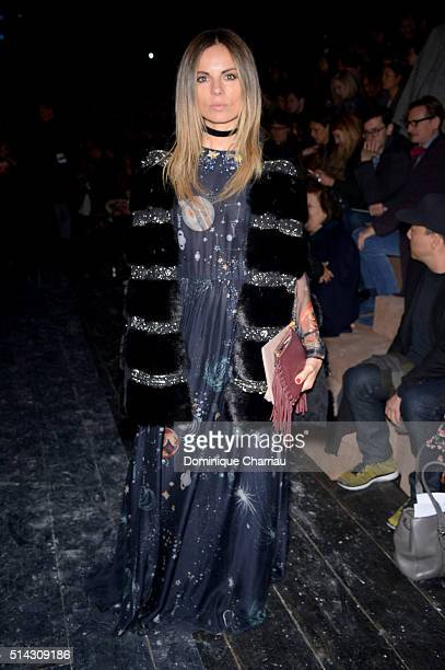 Erica Pelosini attends the Valentino show as part of the Paris Fashion Week Womenswear Fall/Winter 2016/2017 on March 8 2016 in Paris France
