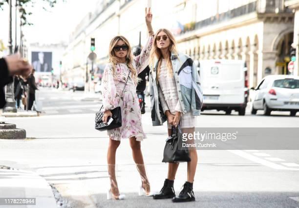 Erica Pelosini is seen outside the Giambattista Valli show during Paris Fashion Week SS20 on September 30 2019 in Paris France