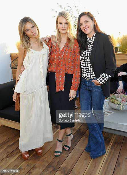 Erica Pelosini, model Kelly Sawyer and guest attend House of Harlow 1960 x REVOLVE on June 2, 2016 in Los Angeles, California.