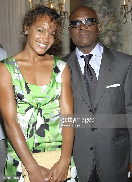 Erica Reid and Antonio LA Reid during Antonio LA Reid Receives The UJAFederation Of New York's Music Visionary Award July 18 2006 at The Pierre Hotel...