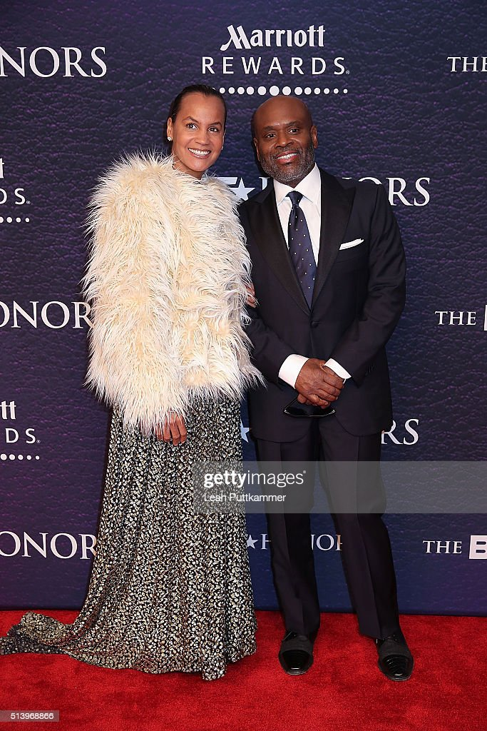Erica Reid (L) and honoree L.A. Reid attend the BET Honors 2016 at Warner Theatre on March 5, 2016 in Washington, DC.