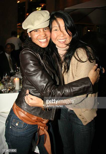 Erica Reid and Karen Kwak during Monique Robinson's Birthday Dinner October 17 2005 at Milos in New York New York United States