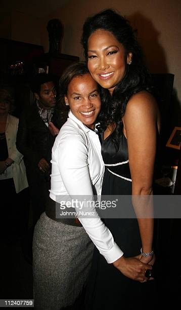 Erica Reid and Kimora Lee Simmons during The Ethnic Foundation Honoring Hosted By Russell Simmons April 25 2006 at Private Home of Antonio LA Reid in...