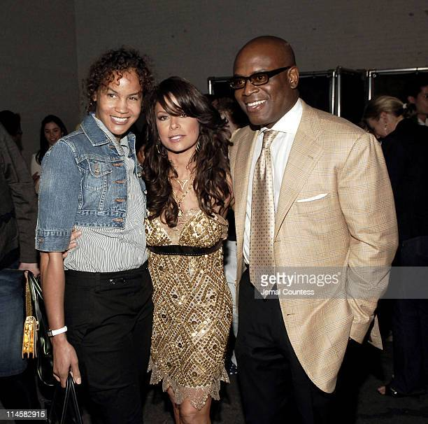 Erica Reid, Paula Abdul and L.A. Reid during Teen People Present 'Best of Fall 2006' at Industria in New York City, New York, United States.