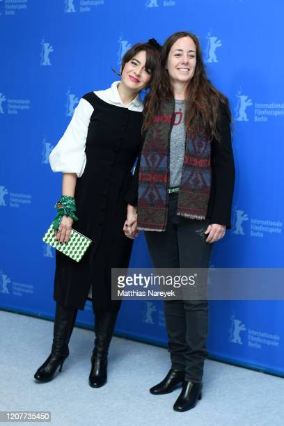Erica Rivas and director Natalia Meta attend the The Intruder photo call during the 70th Berlinale International Film Festival Berlin at Grand Hyatt...