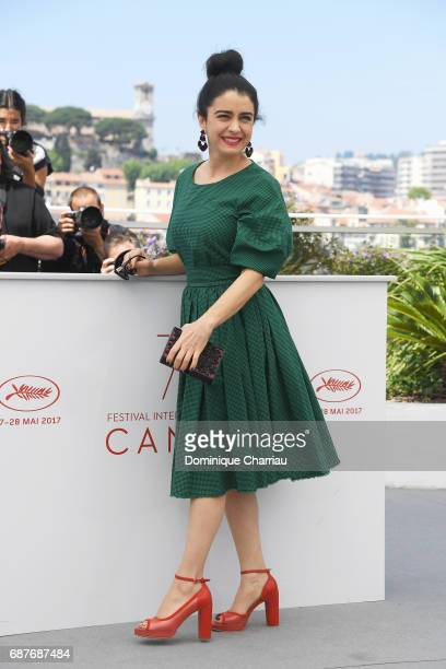 Erica Rivas attends the La Cordillera El Presidente photocall during the 70th annual Cannes Film Festival at Palais des Festivals on May 24 2017 in...