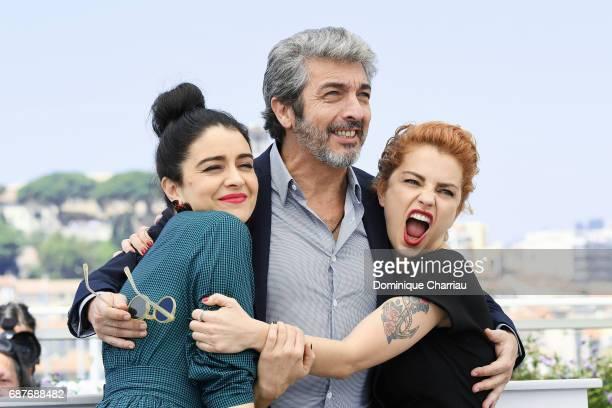 Erica Rivas Ricardo Darin and Dolores Fonzi attend the La Cordillera El Presidente photocall during the 70th annual Cannes Film Festival at Palais...