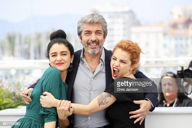 Erica Rivas Ricardo Darin and Dolores Fonzi attend the 'La Cordillera El Presidente' photocall during the 70th annual Cannes Film Festival at Palais...