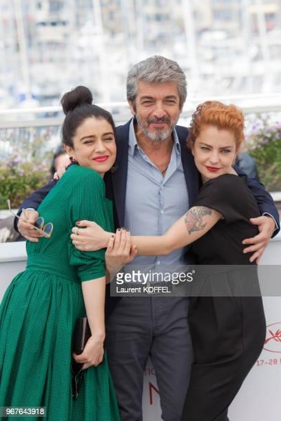 Erica Rivas Ricardo Darin and Dolores Fonzi attend the 'La Cordillera El Presidente' photocall during the 70th annual Cannes Film Festival at Palais...