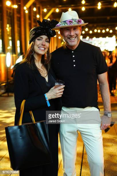 Erica Russo and Kevin Harder attend the 2018 High Line Hat Party at the The High Line on June 14 2018 in New York City