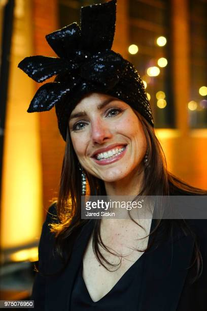 Erica Russo attends the 2018 High Line Hat Party at the The High Line on June 14 2018 in New York City