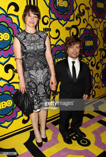 Erica Schmidt and Peter Dinklage arrive at HBO's Official After Party at The Plaza at the Pacific Design Center on September 23 2012 in Los Angeles...