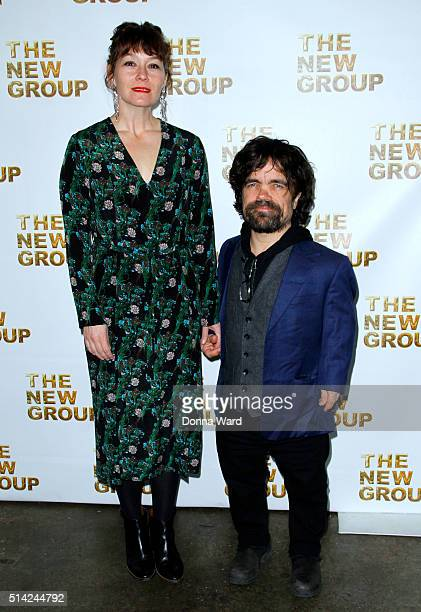 Erica Schmidt and Peter Dinklage attend the 2016 New Gropu Gala at Tribeca Rooftop on March 7 2016 in New York City