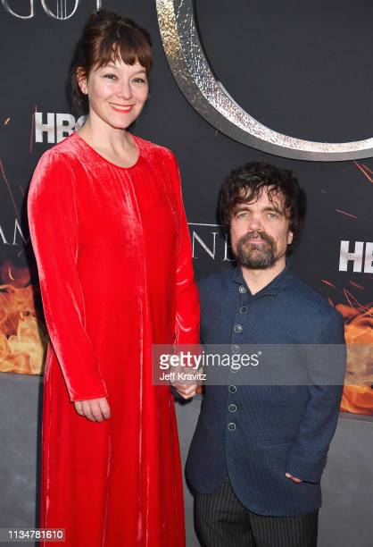 Erica Schmidt and Peter Dinklage attend the Game Of Thrones Season 8 NY Premiere on April 3 2019 in New York City