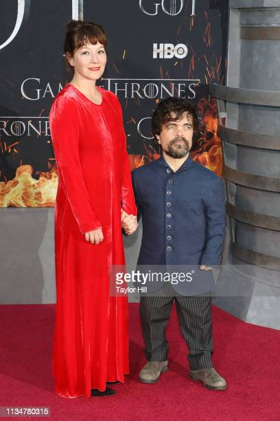 Erica Schmidt and Peter Dinklage attend the Season 8 premiere of Game of Thrones at Radio City Music Hall on April 3 2019 in New York City