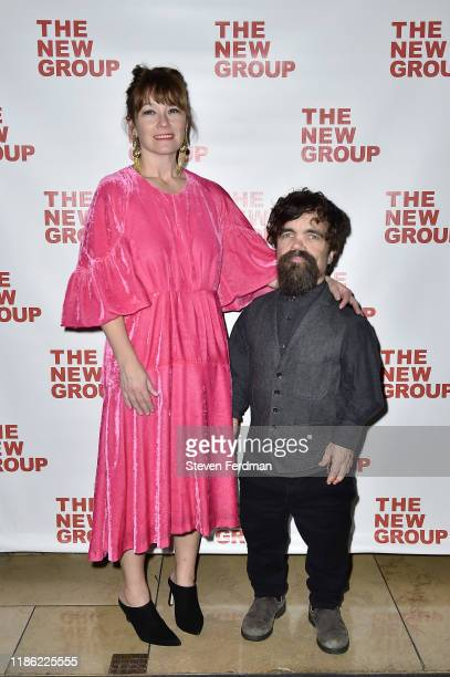 Erica Schmidt and Peter Dinklage attends Cyrano opening night party at Irvington Bar Restaurant on November 07 2019 in New York City
